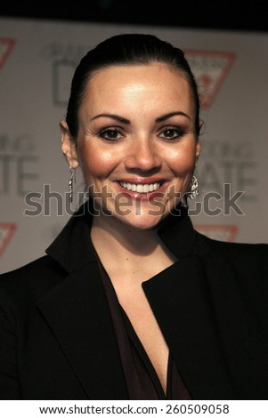 27 January 2005 - Hollywood, California - Martine McCutcheon. The world premiere of 'The Wedding Date' at Universal Studios Cinema in Universal Studios Hollywood.  - stock photo