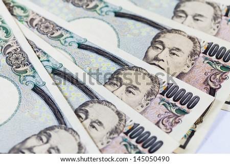 10000 Japanese Yen Note on white isolated. - stock photo
