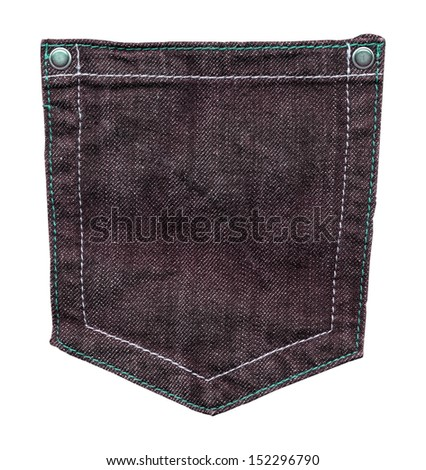 jeans pocket isolated on white