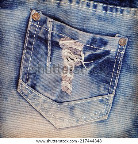 jeans texture  background - stock photo