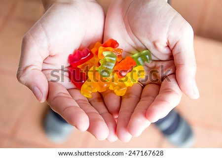 jelly in Handful  - stock photo