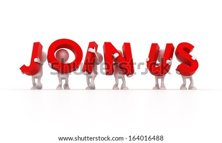 Join Us - stock photo