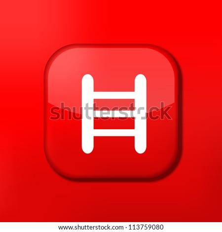 Jpeg version.  red ladder icon - stock photo