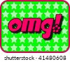 (Jpg) A fun icon with OMG! (Oh My God!) There are other designs in the same series available. - stock photo