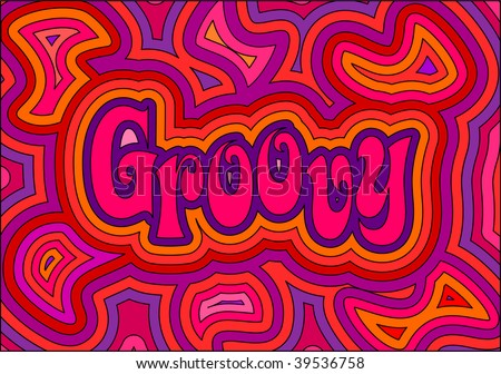 (Jpg) 60s groovy retro psychedelic design. A vector version is also available.