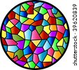 (Jpg) Stained Glass design. A vector version is also available. - stock photo