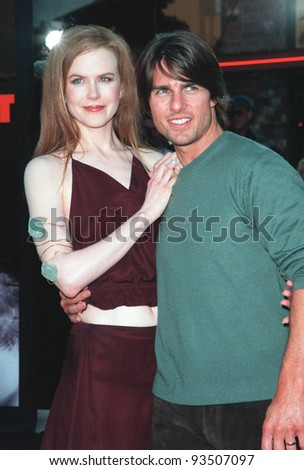 "13JUL99:   Actor TOM CRUISE &actress wife NICOLE KIDMAN at the world premiere, in Los Angeles, of their new movie ""Eyes Wide Shut"".  Paul Smith / Featureflash - stock photo"