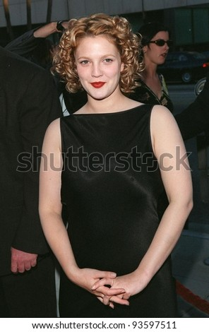 "29JUL98: Actress DREW BARRYMORE at the world premiere, in Los Angeles, of her new movie ""Ever After."""