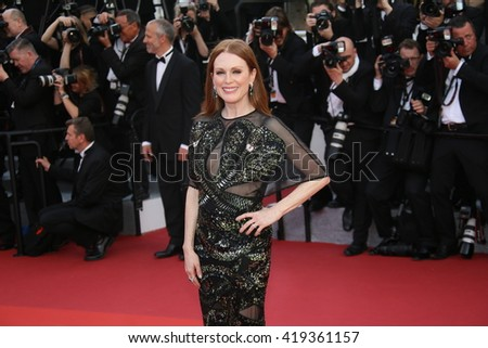Julianne Moore attends the 'Cafe Society' premiere and the Opening Night Gala during the 69th Cannes Film Festival at the Palais des Festivals on May 11, 2016 in Cannes, France.