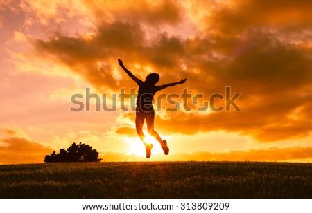 jumping joy stock photo royalty free 313809209