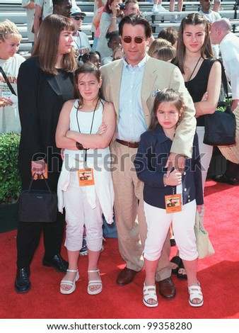 "12JUN99: Actor ANDY GARCIA & family at the world premiere in Hollywood of Disney's latest animated movie ""Tarzan"".   Paul Smith/Featureflash"