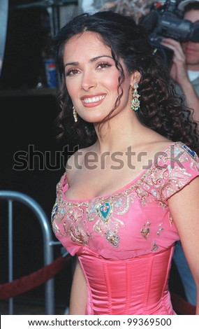 "28JUN99:  Actress SALMA HAYEK at the world premiere of her new movie ""Wild Wild West"" in Los Angeles.  She stars in the movie with Will Smith and Kevin Kline.  Paul Smith / Featureflash - stock photo"