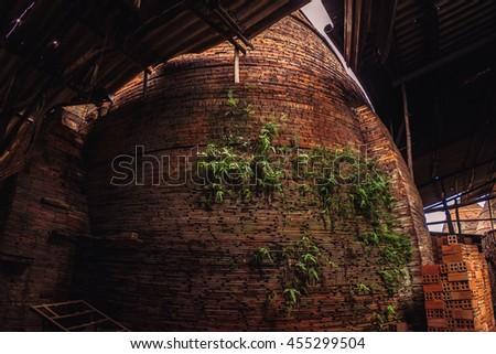 23 Jun 2016: Traditional brick oven (brick kiln) in Sadec, Dong Thap province, Vietnam