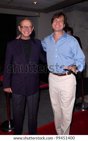 22JUNE2000 Actor BILL PAXTON & father John at party for GQ Magazine to promote their July issue featuring Mark Wahlberg. - stock photo