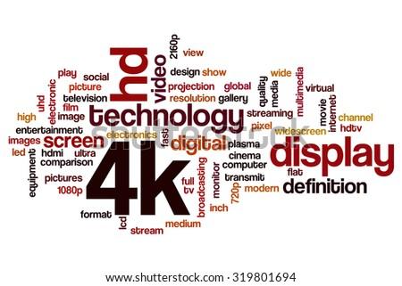 4k word cloud - stock photo