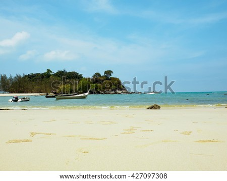 KAM ISLAND RANONG  THAILAND. MAY 17,2016 Island Kam a small island in Ranong. Away from the coast, not much.Tourists regularly visit Because natural beauty. on May 17, 2016 Kam Island Ranong Thailand