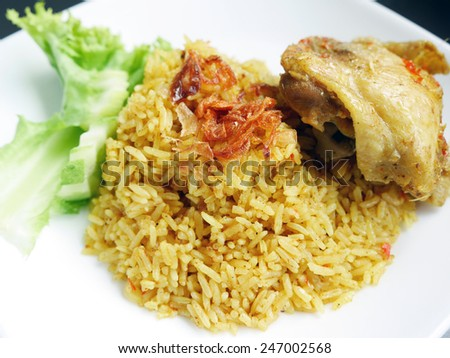 Khao Mok Gai' Thai Chicken Biryani, Halal Chicken and Curry Rice ...
