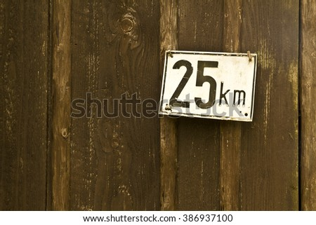 25km  - stock photo