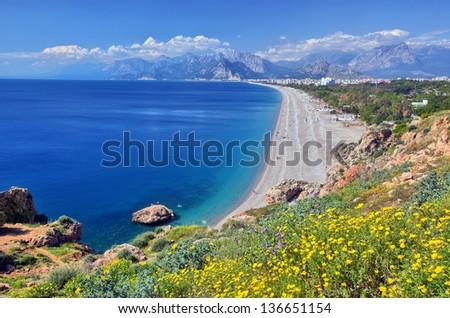 Konyaalti beach, Antalya - stock photo