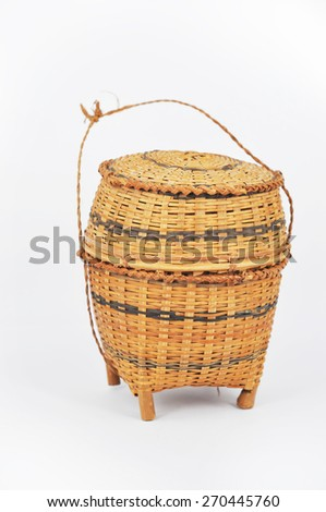 'Kratip' bamboo container for holding cooked glutinous rice