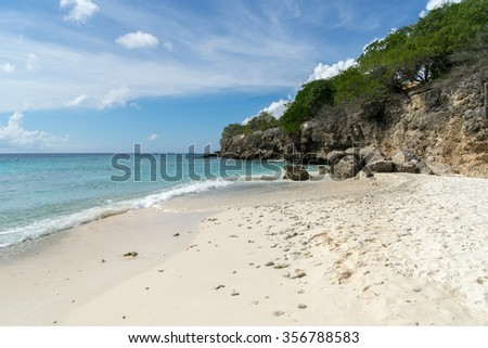 Kura Hulunda and beach - Views around the Caribbean Island of Curacao