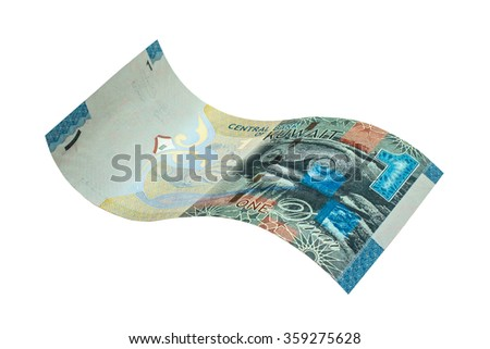 1 Kuwaiti dinar banknote. Kuwaiti dinar is the national currency of Kuwait