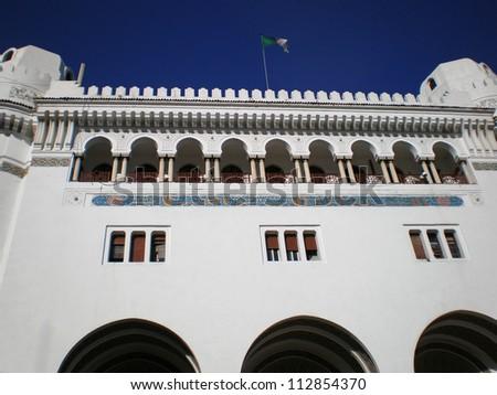 ??La grande poste - Main post office and one of the landmarks of Algiers Algeria - stock photo