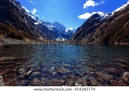 2015 Lake Marian New Zealand - stock photo