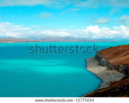 Lake   Pukaki - stock photo