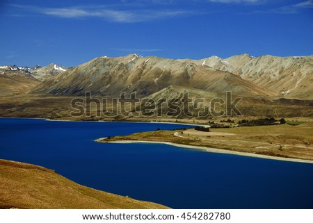 2015 Lake Tekapo New Zealand - stock photo