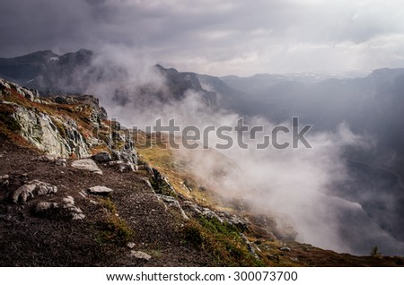 Landscapes in mountains. Norway  - stock photo