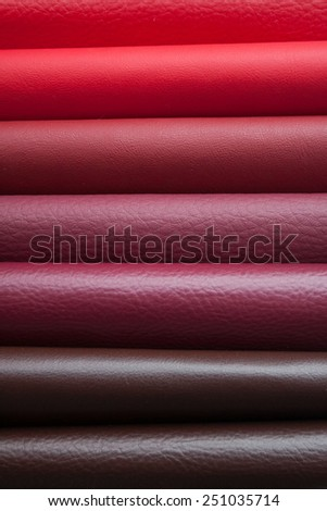 leather in various colors - stock photo