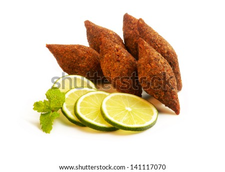 Lebanese Food - Kibe - stock photo
