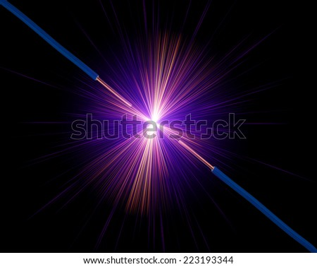 ?lectrical Wires - stock photo