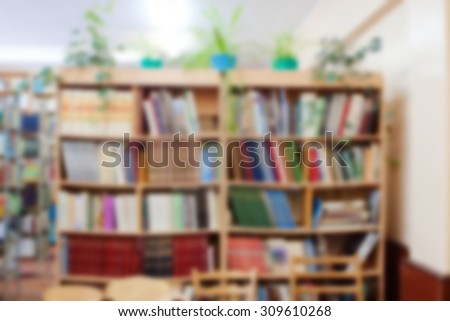 library in the school, background for your design - stock photo