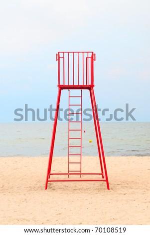 Lifeguard station - stock photo