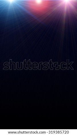 light colored spotlights on a dark background - stock photo