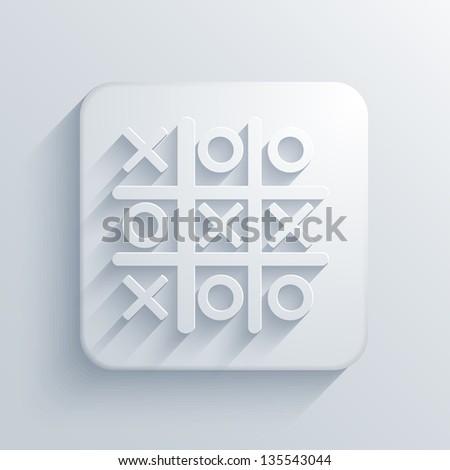 light square icon. Jpeg version - stock photo