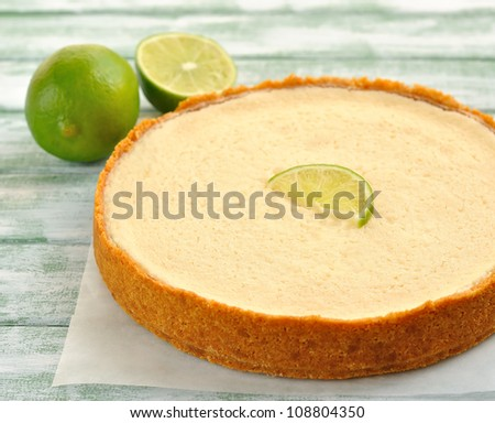 lime pie - stock photo