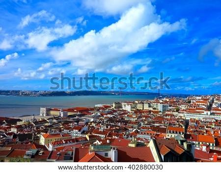 LISBON PORTUGAL CITY VIEW                               - stock photo