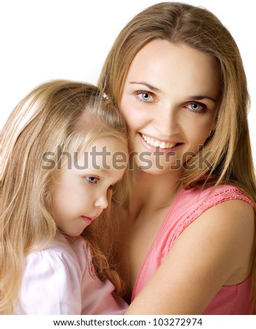 little girl with a mother