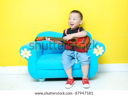 little happy  Asian  boy - stock photo
