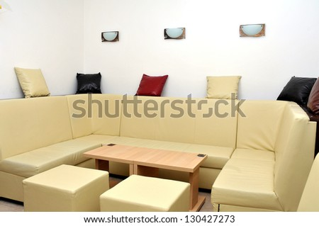 living room interior in hotel apartment