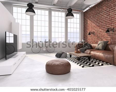 Loft Interior loft apartment stock images, royalty-free images & vectors