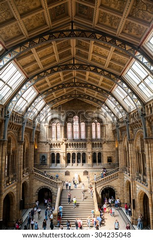 23. 07. 2015 LONDON, UK, Natural History museum - building and details - stock photo