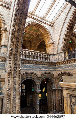 23. 07. 2015 LONDON, UK, Natural History museum - building and details