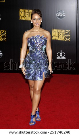 22/11/2009 - Los Angeles - Alicia Keys at the 2009 American Music Awards held at the Nokia Theater in Los Angeles, California, United States.  - stock photo