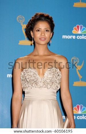 LOS ANGELES - AUG 29:  Gugu Mbatha-Raw in the Press Room at the 2010 Emmy Awards at Nokia Theater at LA Live on August 29, 2010 in Los Angeles, CA
