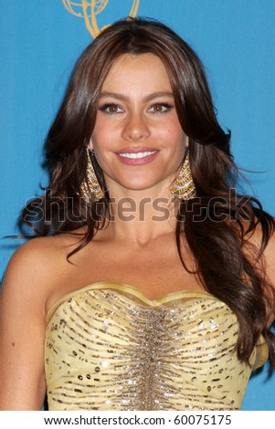 LOS ANGELES - AUG 29:  Sofia Vergara in the Press Room at the 2010 Emmy Awards at Nokia Theater at LA Live on August 29, 2010 in Los Angeles, CA - stock photo