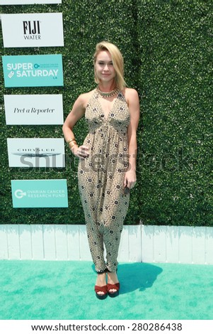 0LOS ANGELES - MAY 16:  Becca Tobin at the Super Saturday LA at the Barker Hanger on May 16, 2015 in Santa Monica, CA - stock photo